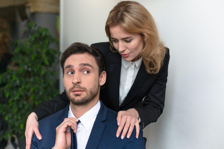 female harassing co-worker
